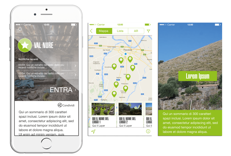 Screenshot App Valnure e Valchero